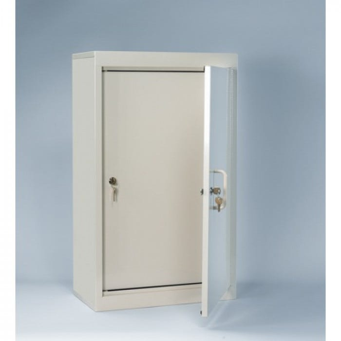 Double Door Double Lock Narcotic Cabinet With 2 Shelves