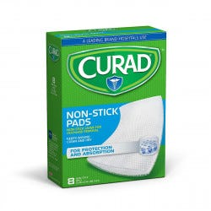 """Curad Non Stick Pad 8""""x3"""", Sterile, 8/box"""