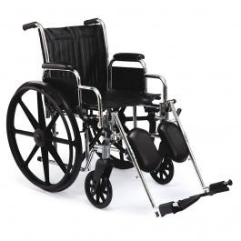 "School Health Wheelchair 22"" with Detachable Elevating Leg Rests"