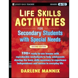 Life Skills Activities Secondary Students With Special Needs