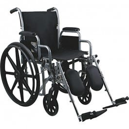 "School Health Economy Wheelchair 18"" with Detachable Elevating Leg Rests"