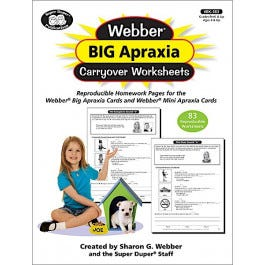Webber Big Apraxia Carryover Worksheets