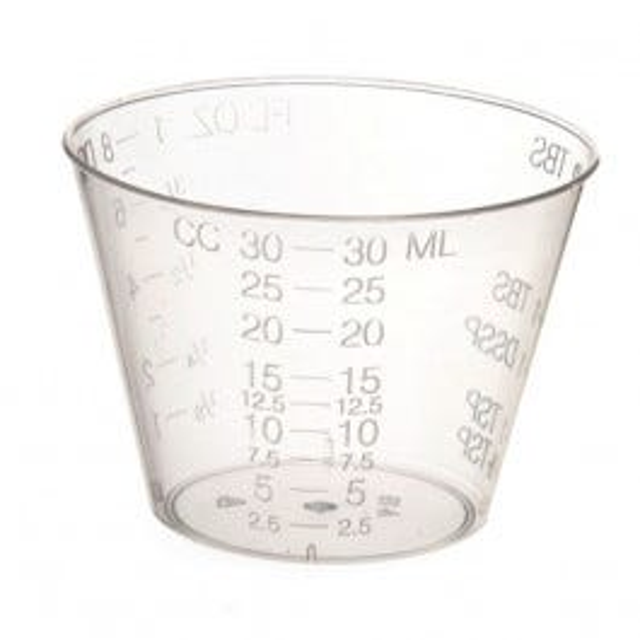 1 oz. Plastic Medicine Cups 100/Tube