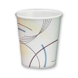 5 oz. Paper Flat Bottom Cup 100/Tube