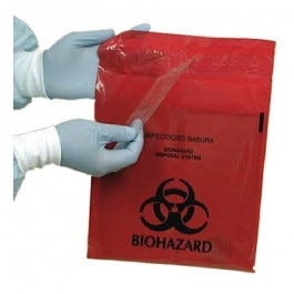 Stick-On Biohazard Waste Bags
