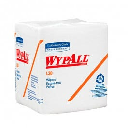 WYPALL L30 White Wipers, 90/Package