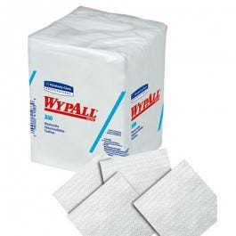 "WYPALL X60 Teri Hygienic Washcloths, 12-1/2"" x 10, White, 70/pack"