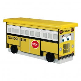 School Bus Treatment Table with 5 Drawers and Cabinet Storage