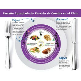 Adult Right-Sized Portion Plate Tear Pad, Spanish, 50 Sheets