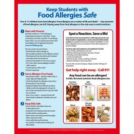 "Kids Food Allergies Magnet, Laminated - 8.5"" x 11"""