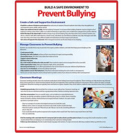 """Bullying Prevention Magnet and Memo Board, Laminated - 8.5"""" x 11"""""""