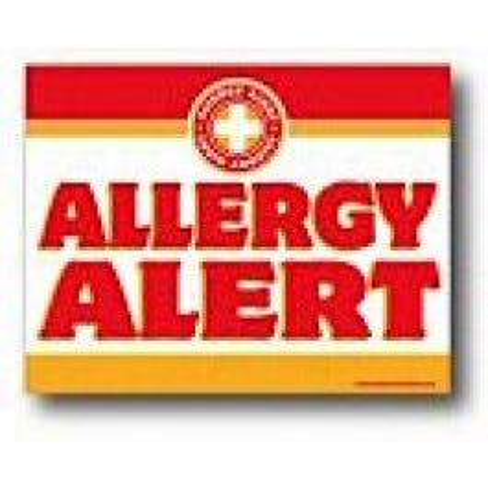 Allergy Alert Sign