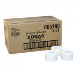 Johnson and Johnson ZONAS Athletic Tape Speed Packs