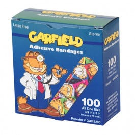 "CareBrand Garfield 3/4"" x 3"" Adhesive Strips"