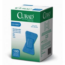 CURAD Food Service Blue Plastic Adhesive Bandages