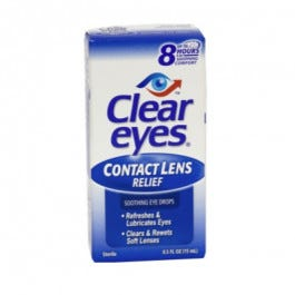 Clear Eyes - Contact Lens Relief, 0.5 oz.