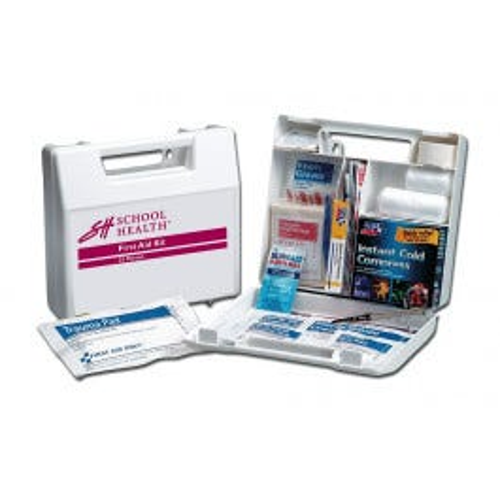 School Health 25 Person, 106-Piece Bulk First-Aid Kit- Metal