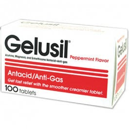 Gelusil Tablets - Mint Flavored, 100's