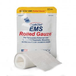QuikClot EMS Rolled Gauze (3-inch x 4-foot)