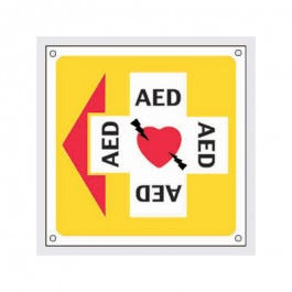 Directional AED Sign