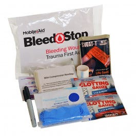 BleedSTOP Single 100 Compact Bleeding Wound Trauma First Aid Kit (32710)