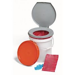 LifeSecure Store-A-Potty 72-Hour Emergency Toilet Kit & Storage Bucket (60400)