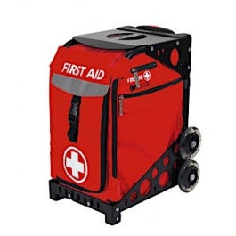 MobileAid Hi-Visibility EASY-ROLL First Aid Cart [Empty]