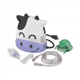 Mabis Margo Moo Cow Compressor Nebulizer Kit With Barn Carrying Case