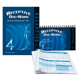 Receptive One-Word Vocabulary Test - 4th Edition