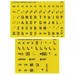 Large Print Braille Keyboard Labels