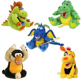 Large Starsmilez Oral Health Plush Teaching Puppet Models