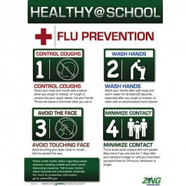 Healthy At School Flu Prevention Poster