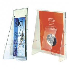 Clear Single-pocket Countertop Units - Leaflet and Magazine