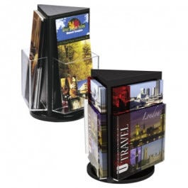 Black Three-sided Countertop Units - Leaflet and Magazine
