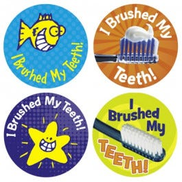 I Brushed My Teeth Stickers