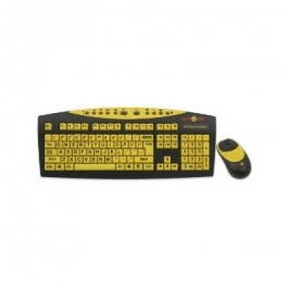 Keys-U-See Wireless Large Print Keyboard Black With Yellow Keys