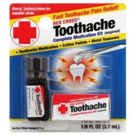 Red Cross Toothache Medication Kit
