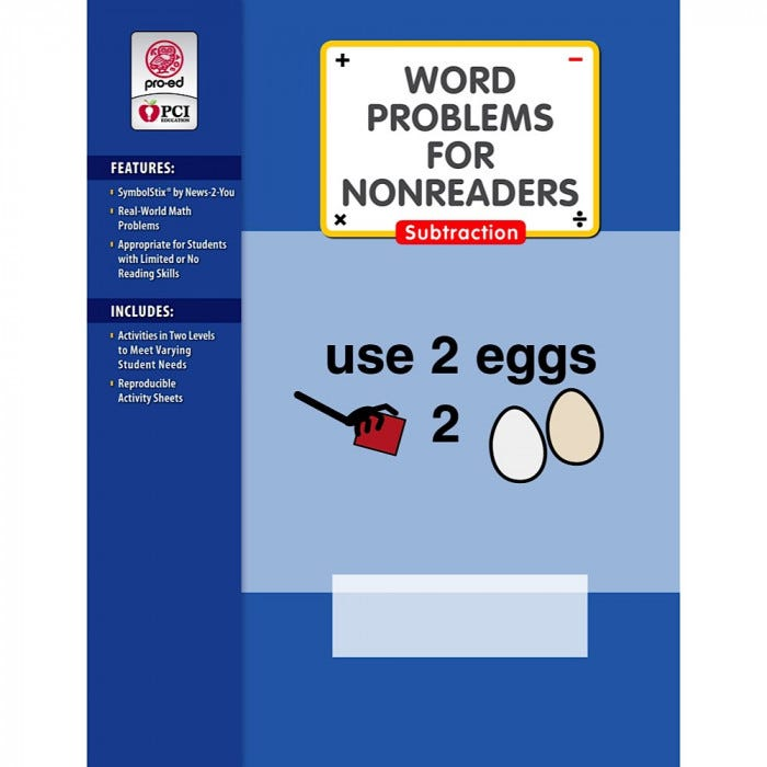 Word Problems For Nonreaders - Instruction - Mathematics - Subjects ...