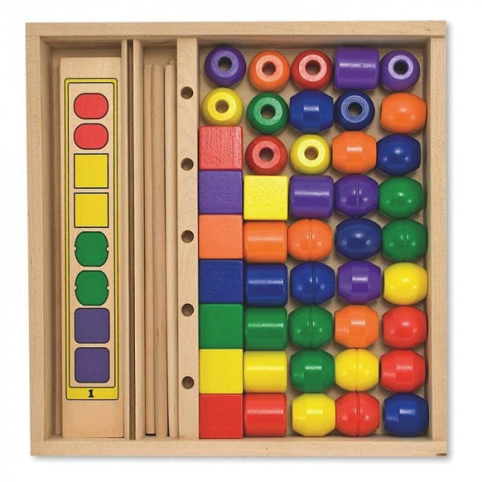 Educational Toys Autistic : Melissa doug bead sequencing set manipulatives