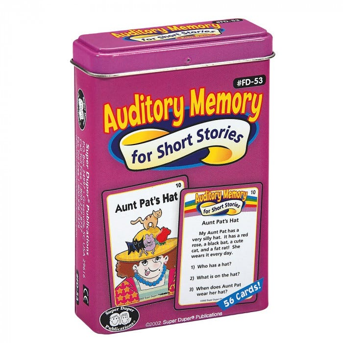 Auditory Memory For Short Stories Fun Deck
