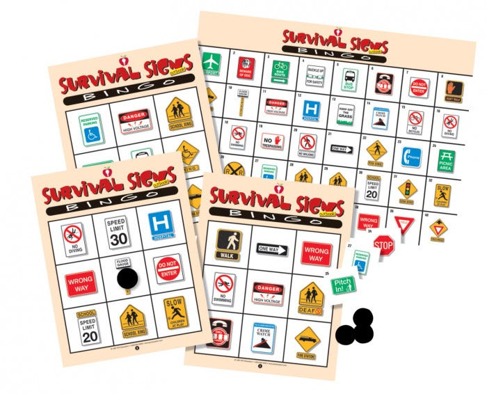 Survival Signs Curriculum Magnets Educational Aids Resources