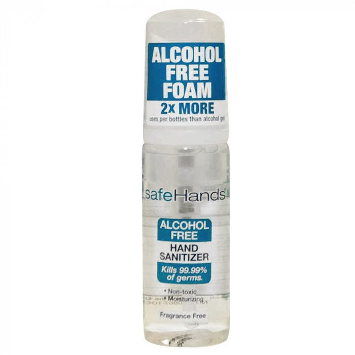 Safehands Alcohol Free Foam Hand Sanitizers Sanitizer