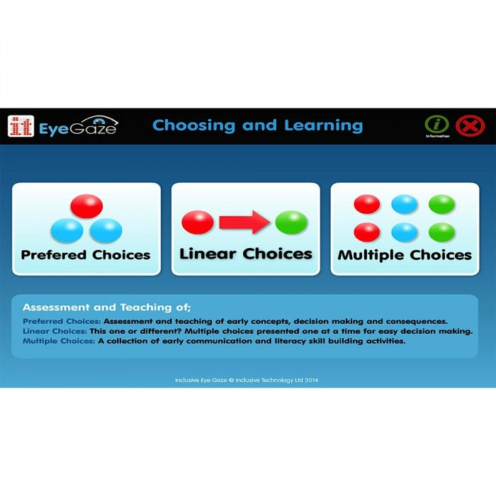 Eyegaze Choosing and Learning Software