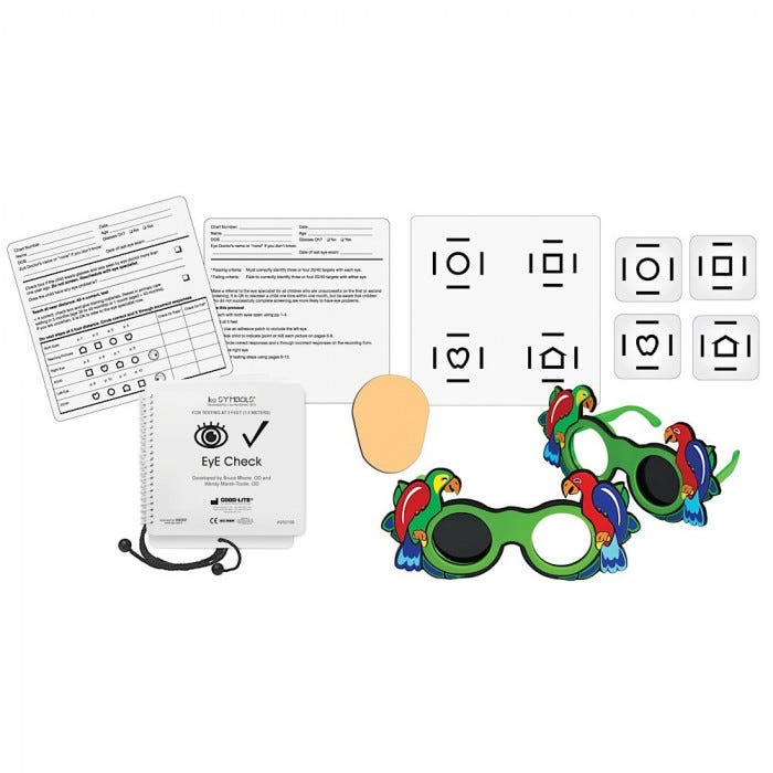 Eye Check Screener With Lea Symbols Lea Numbers Symbols Eye