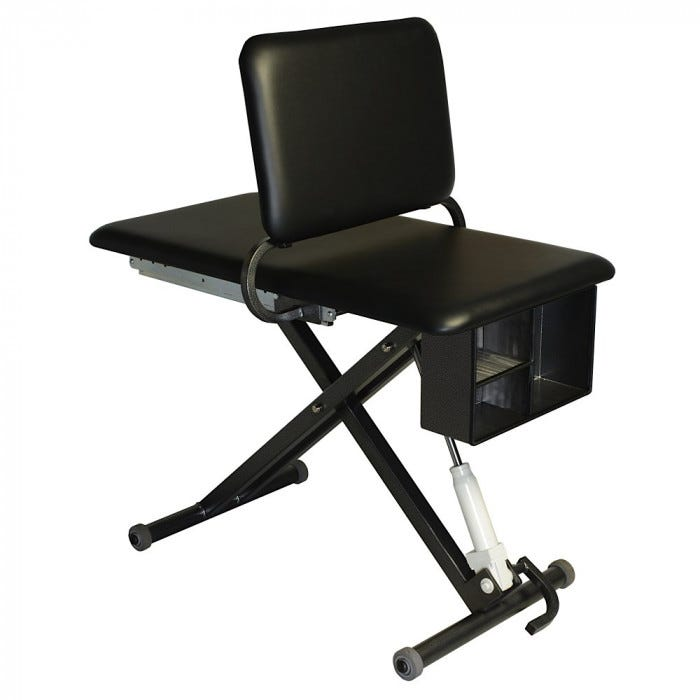 Hi Lo Hydraulic Taping Table With Adjustable Back Cappuccino ...