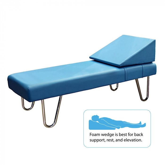 Recovery Couch With Chrome Legs And Removable Foam Wedge