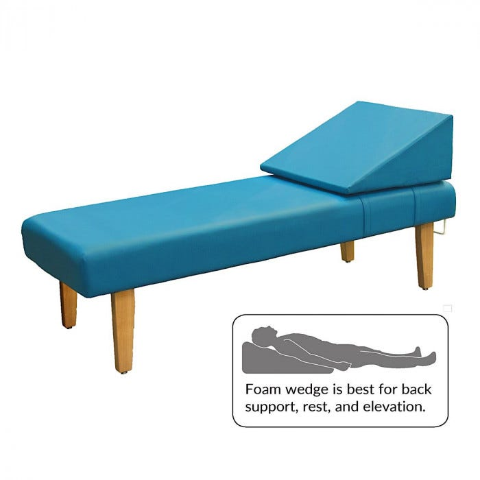 Astounding Recovery Couch With Wooden Legs And Removable Foam Wedge 72 Short Links Chair Design For Home Short Linksinfo