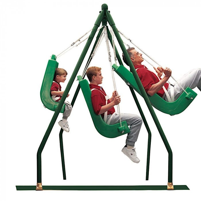 Indoor Outdoor Swing Seat Frame Swinging Sensory Motor Sensory