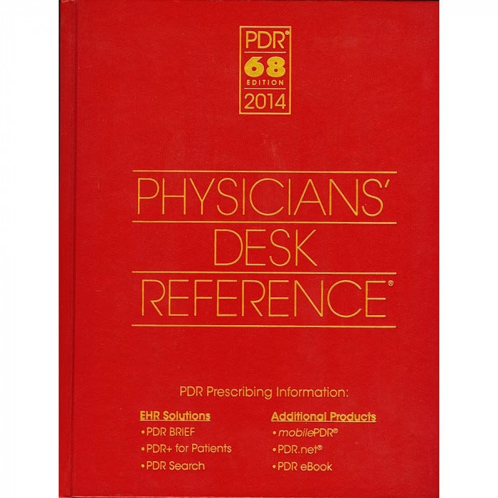 Physicians Desk Reference 2014 Drug References Books