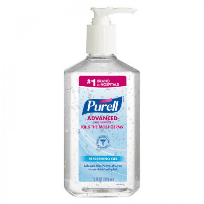 Purell Advanced Instant Hand Sanitizer With Aloe 12 Oz 12 Pk